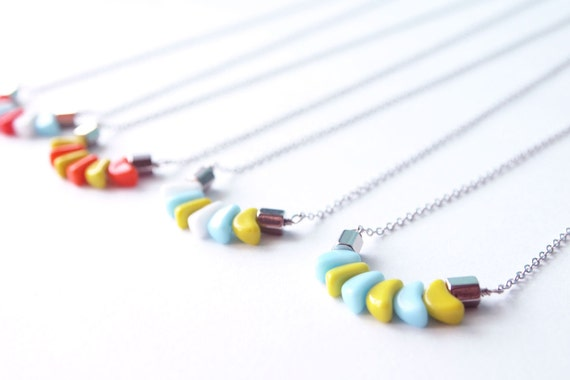 "Everyday Necklace : LIMITED ""Tic Tacs"" German Glass Beads"
