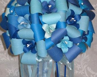 Blue Sky Wedding Bouquet - Origami Floral Arrangement