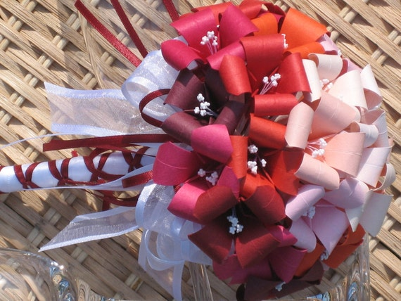 Fall in Love Wedding Bouquet - Origami Flower Arrangement