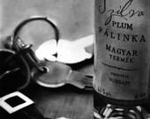 "PRINT-Drawing-""Produce of Hungary"", Pálinka glass bottle 14"" x 11"""