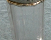 Antique Large Sterling Silver Repousse Glass Salt Shaker c.1900