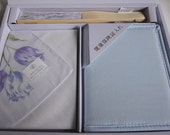 Vintage Asian Designer Wallet Violet Hankie Set