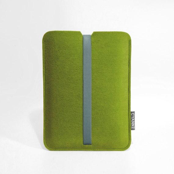Felt Macbook Pro Sleeve - Kiwi Green