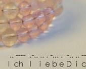 Morse Code Pink Beaded Bracelet (Ich liebe Dich)