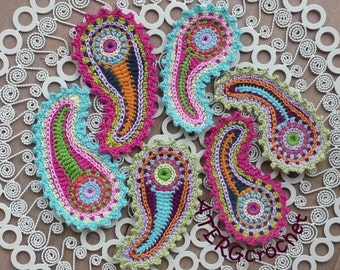 Crochet pattern paisley by ATERGcrochet