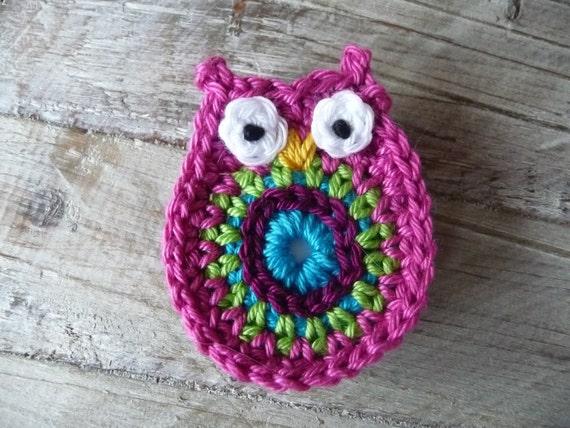 Owl old pink magnet