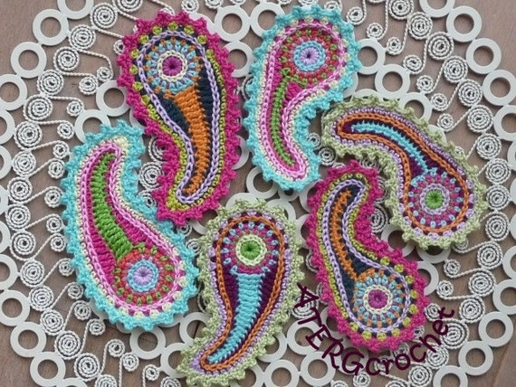 Crochet pattern paisley by ATERGcrochet