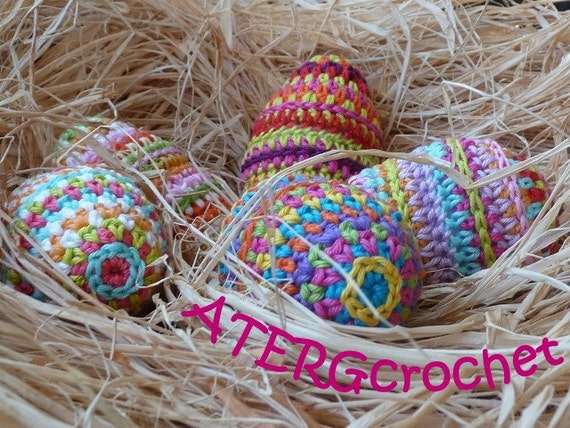 Crochet pattern Easter egg by ATERGcrochet