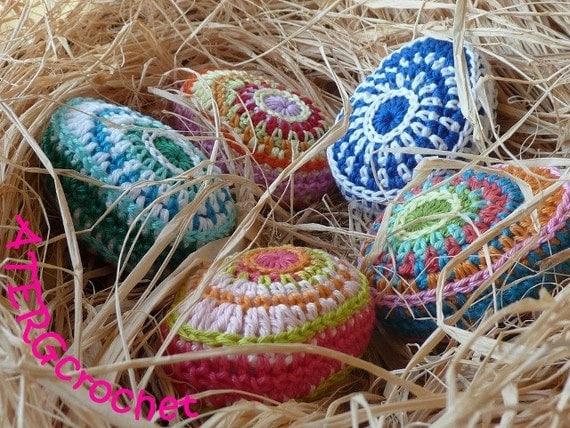 Crochet pattern Easter egg II by ATERGcrochet