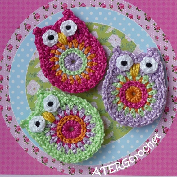 Owl application set pistache/cyclaam/lilac
