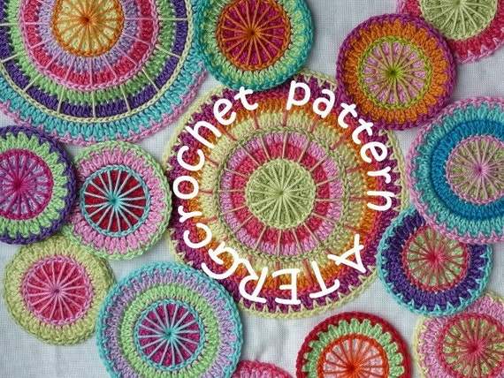 Crochet pattern multicolored circles by ATERGcrochet