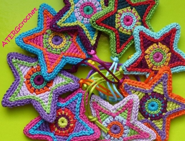 Crochet pattern STAR by ATERGcrochet by ATERGcrochet on Etsy
