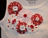 Red and White Decorated T-Shirt