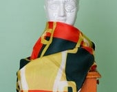 Vintage silk colorblock scarf, a la Mad Men