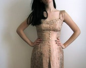 1950's Evening Dress, Pink Champagne
