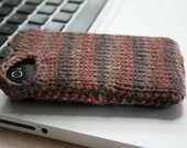 Autumn - earth-tone knit phone sweater case for iPhone