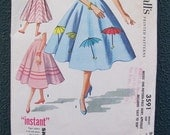McCalls 3591 Vintage Sewing Pattern 1956 - Waist 26