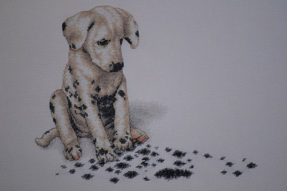 Achoo by Dimensions -  Dalmatian Puppy Finished Counted Cross Stitch
