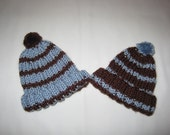 Special Order for Owen and Noah, newborn hats