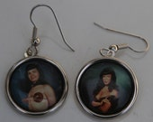 Bettie Page Earrings 50s Pin Up earrings Betty Page