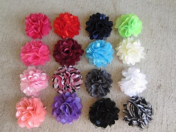 Baby Hair Clips - Flower Hair Clips - Baby Bows - Hair Clips - Toddler Hair Clip - Pigtail Clips - Puffy Flower Clip - Baby Hair Bow