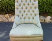Hollywood Regency style slipper chair