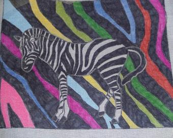 HP Needlepoint Canvas-Funky Zebra