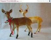 ON SALE Vintage Plastic Deer