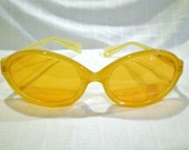 Vintage MIKLI par  mikli sunglasses LEMON ORANGE yellow  New