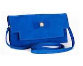 Clutch Bag - Blue Papilio Leather Bag SALE SALE SALE