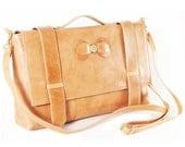 Leather Bag - Camel  Triodes Bag - S A L E - S A L E - S A L E -