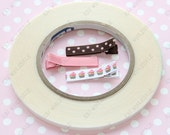 """2 Rolls - USA Made - Double Sided Tape D670 - Hair Bow, Hair Clip, Scrapbooking - 1/4"""" Fillet Tape"""