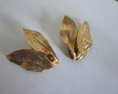 Gold Clip On Earrings- Mosell