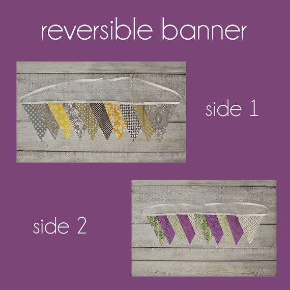 Reversible Fabric Pennant Banner