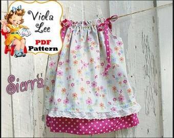 Sierra...Pillowcase Dress Pattern. Double layer Pillowcase Dress Pattern.Toddler Dress Pattern. pdf. Girl's Sewing Pattern. Infant Dress.