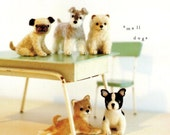 Wool Felt Dogs, Kawaii PDF Patterns, Japanese Ebook, Free Shipping No. 10