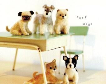 Wool Felt Dogs, Kawaii PDF Patterns, Japanese Ebook, Free Shipping No. 10