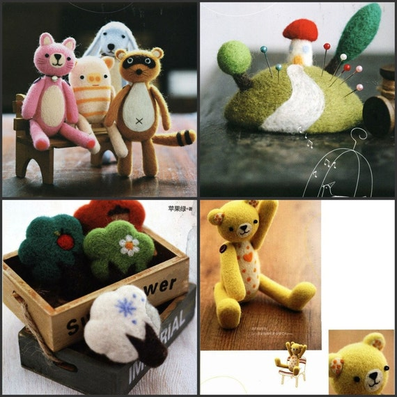 Needle and Hand Felting Various Goods PDF Patterns, Kawaii Ebook, Free Shipping
