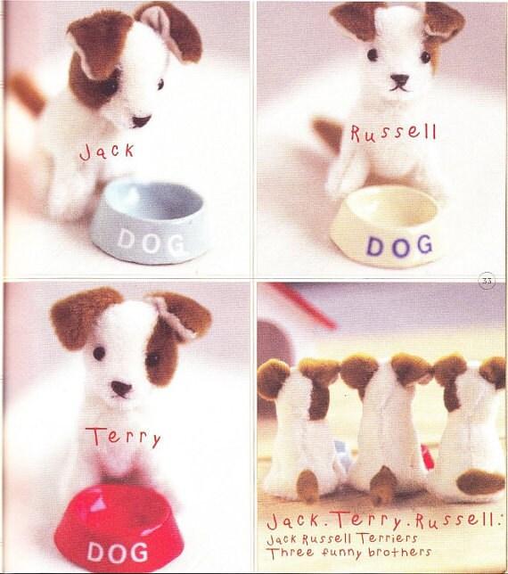 Puppy Patterns, English Pattern, Sew Dog Pattern, Little Dog, Free Shipping No.23