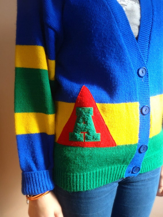 Awesome Retro Letterman Cardigan