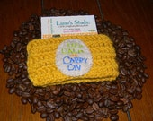 KEEP CALM & carry on crochet cup cozy coffee/tea