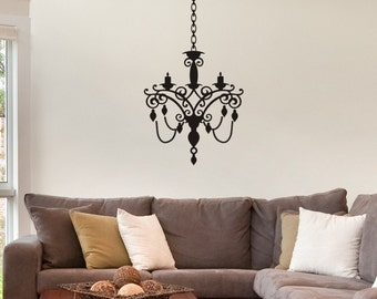 Wall Decal - Chandelier style 6 Nice living room wall decor