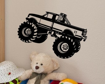 Monster Truck Wall Decal Monster Truck Wall Decor Kids Bedroom Decor Baby Boy Nursery Boys Room Monster Truck Theme Vinyl Sticker