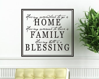 Living Room Wall Decal Having Somewhere To Go Is Home Family Wall Decal Wall Decor Family Room Wall Sticker Decoration Vinyl Lettering