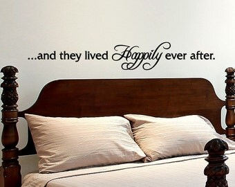 Love Quote Wall Decal - And They Lived Happily Ever After