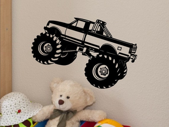 Monster Truck Wall Decal Monster Truck Wall Decor Kids Bedroom