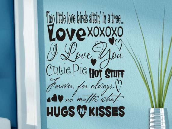 Wall Decor Words items similar to master bedroom wall decor words of love subway
