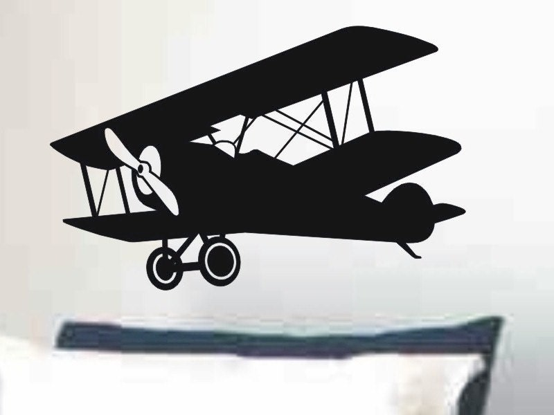 Large Airplane Wall Decal Kids Bedroom Or Nursery Wall Decor