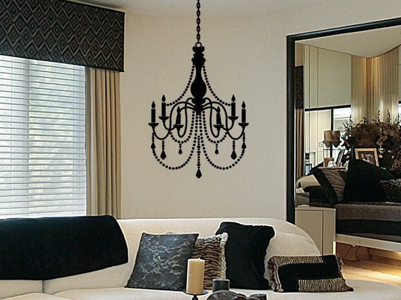 Chandelier decal vinyl chandelier wall decal decorations zoom aloadofball Gallery