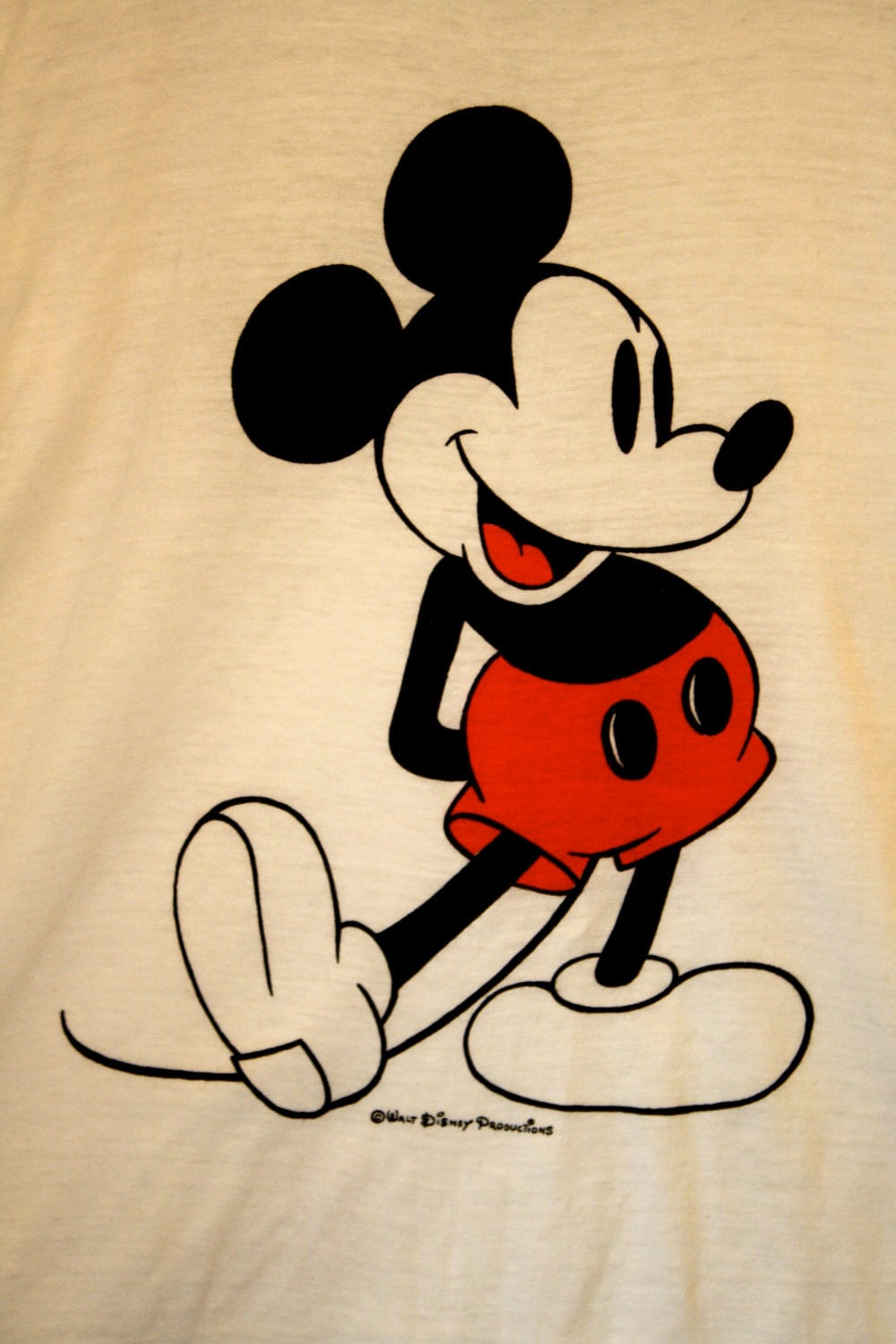 VINTAGE Mickey Mouse Ringer T Shirt Made In USA By ...